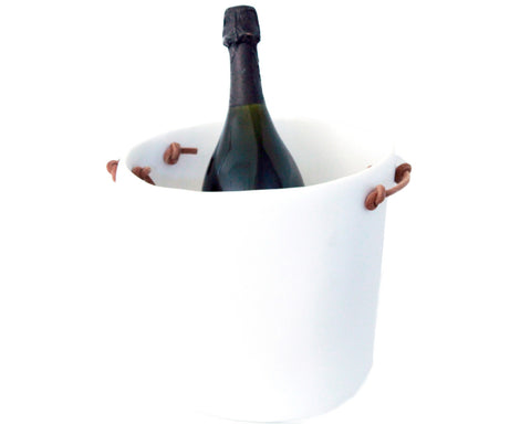 White Champagne or Wine Bucket