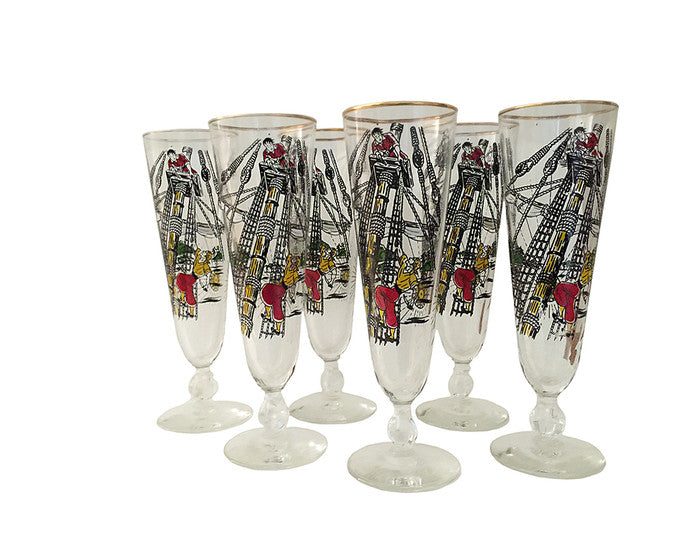 Pirate Pilsner Mid-Century Glasses