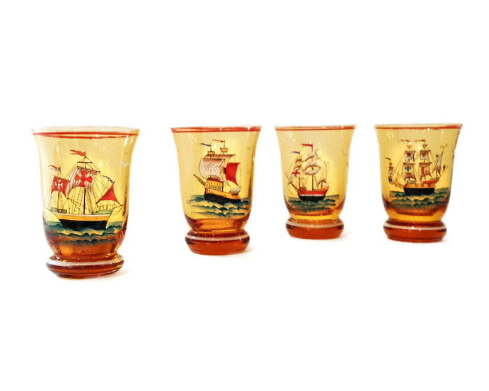 Ships Ahoy Glasses