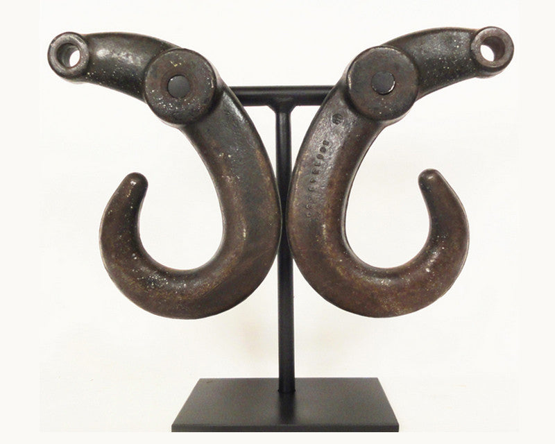 Unusual Antique Steel Hooks