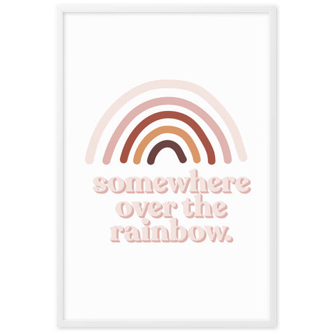 "Gerahmtes Poster ""somewhere over the rainbow"" auf mattem Papier"