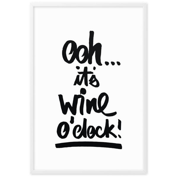 "Kunstdruck gerahmt ""OHH IT'S WINE O´CLOCK"""