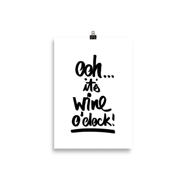 "KUNSTDRUCK ""OHH IT'S WINE O´CLOCK"""