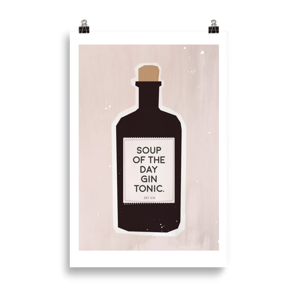 "Kunstdruck ""soup of the day - gin tonic"""