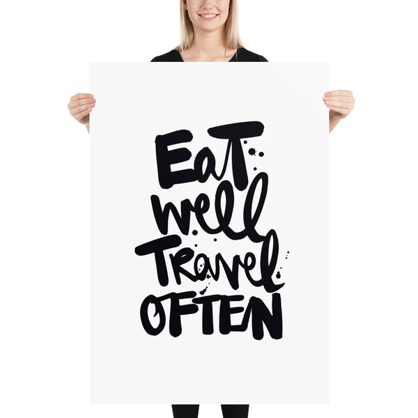 "Kunstdruck ""EAT WELL TRAVEL OFTEN"""