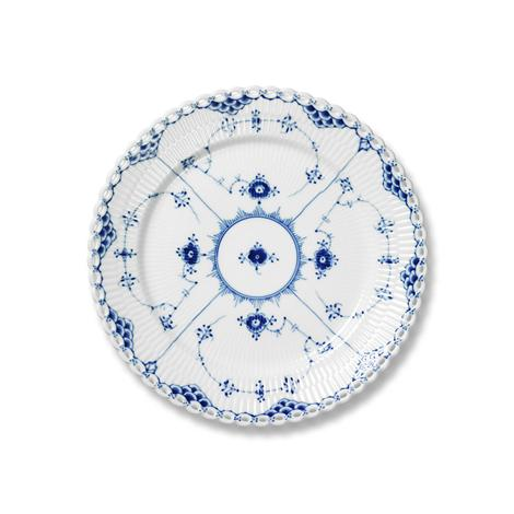 R.C. Blue Fluted Full Lace Salad/Dessert Plate