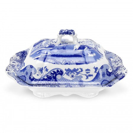 Spode Blue Italian Covered Vegetable Dish 12