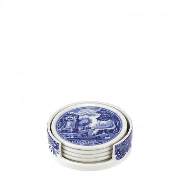 Spode Blue Italian Ceramic Coasters 3.75