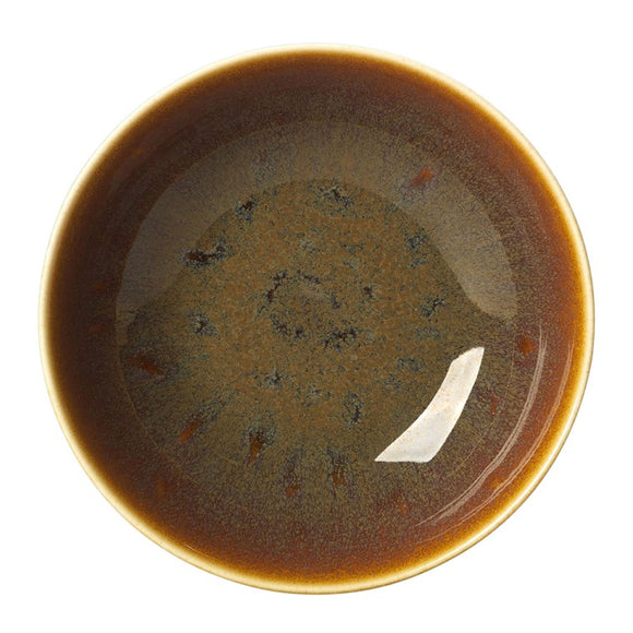 ART GLAZE FLAMED CARAMEL - COUPE BOWL (16.5cm)
