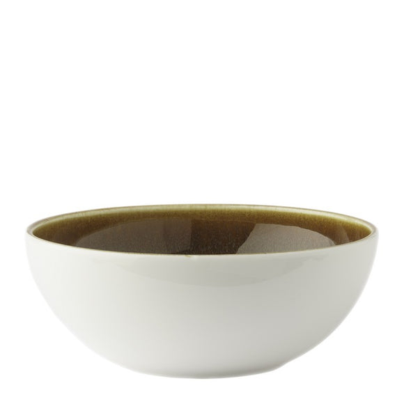 ART GLAZE FLAMED CARAMEL - DEEP COUPE BOWL (14.5cm)