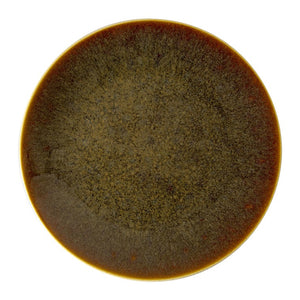 ART GLAZE FLAMED CARAMEL - COUPE PLATE (21cm)