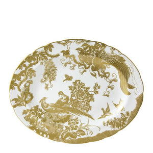 AVES GOLD - OVAL DISH SMALL (33cm ) Platter