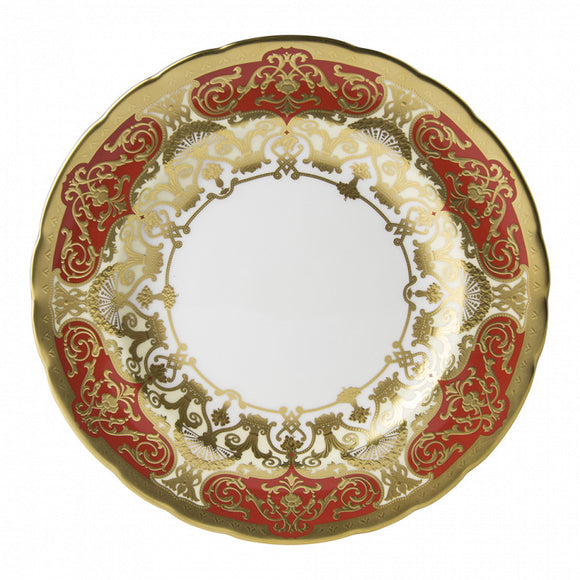 HERITAGE RED & CREAM - PLATE (21.65cm ) SALAD