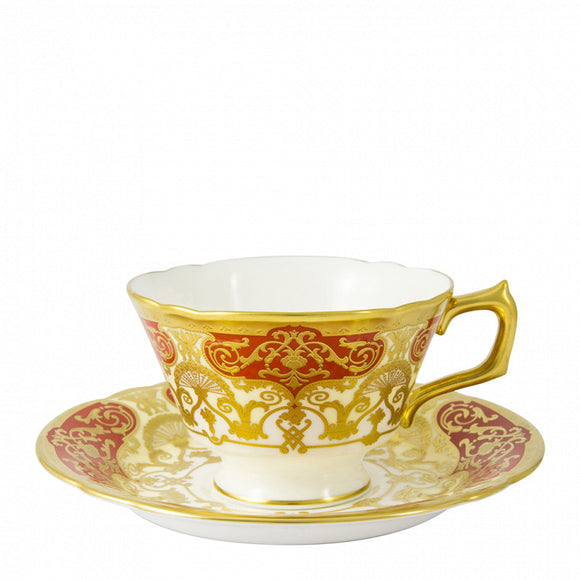 HERITAGE RED & CREAM - TEA CUP & SUACER