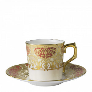 HERITAGE RED & CREAM - COFFEE CUP & SAUCER