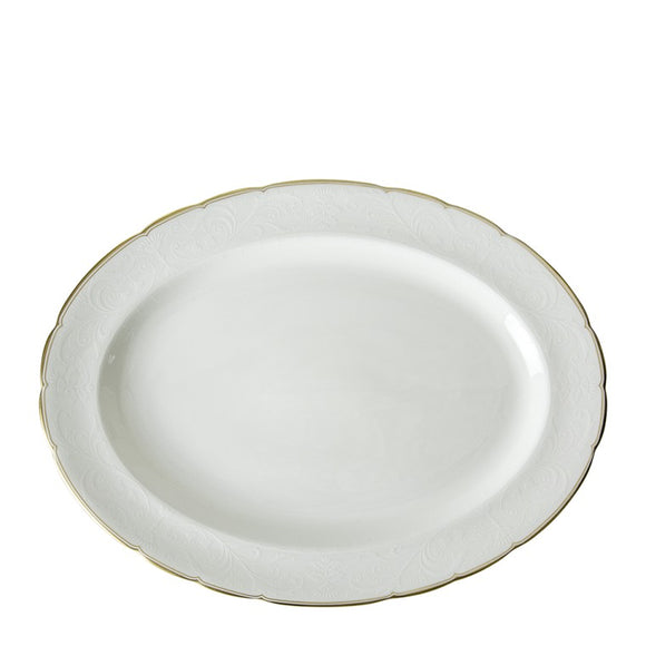 DARLEY ABBEY PURE GOLD - OVAL DISH LARGE (38cm)