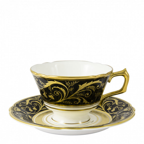 REGENCY BLACK - TEA CUP & SAUCER