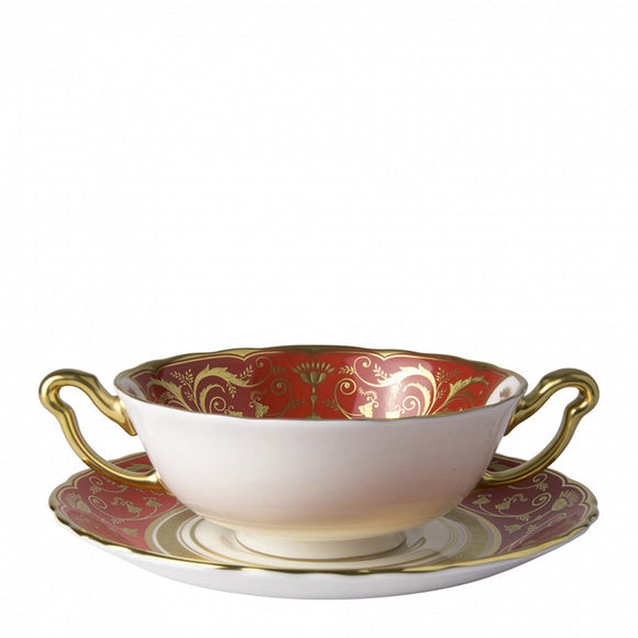 REGENCY RED - CREAM SOUP CUP & STAND