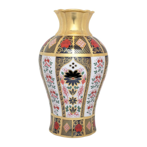 OLD IMARI SOLID GOLD BAND - ARUM LILY VASE