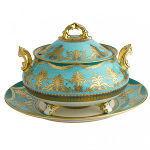 TURQUOISE PALACE - SOUP TUREEN & STAND