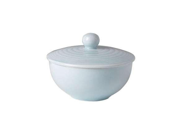 Covered sugar bowl - Maze Blue