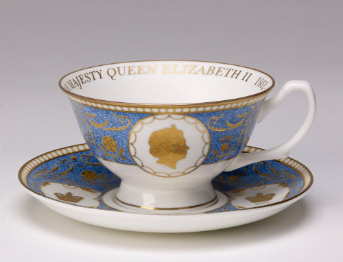 Diamond Jubilee Tea Cup & Saucer