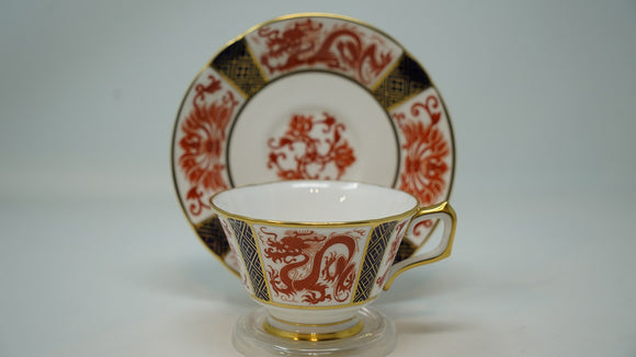 Royal Crown Derby Dragon Footed Cup & Saucer