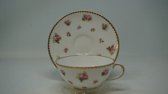 Royal Doulton Egg Shell Cup & Saucer Roses C1900