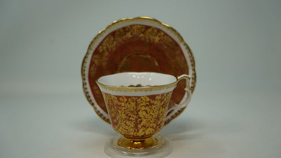 Royal Albert Cup and Saucer Buckingham Series Orange amd Gold
