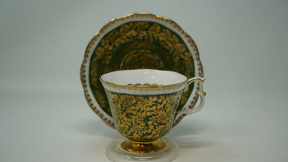 Royal Albert Cup and Saucer Buckingham Series Green and Gold