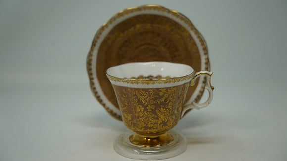 Royal Albert Cup and Saucer Buckingham Series Tope and Gold