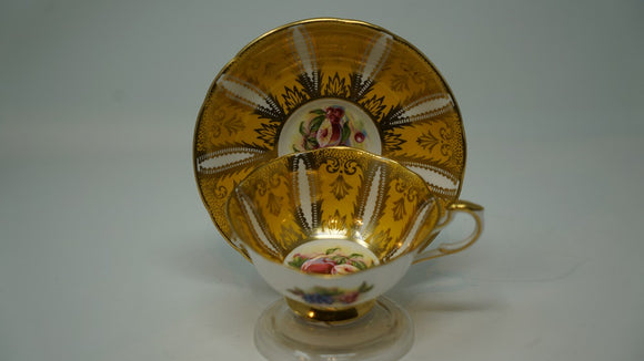 Paragon Fine Bone China Fruit Centre Yellow and Gold Design