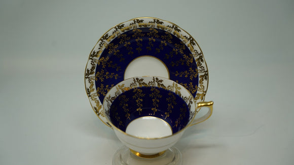 Aynsley Fine Bone China Made in England Cobalt Blue White & Gold