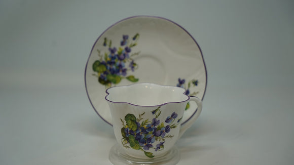 Crown Staffordshire English Bone China Fluted Forget-me-nots