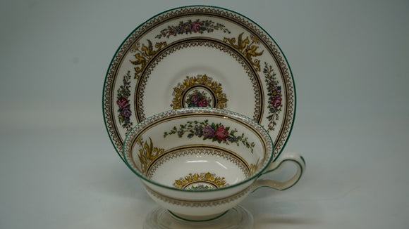 Wedgwood Columbia 595 Peony Cup and Saucer