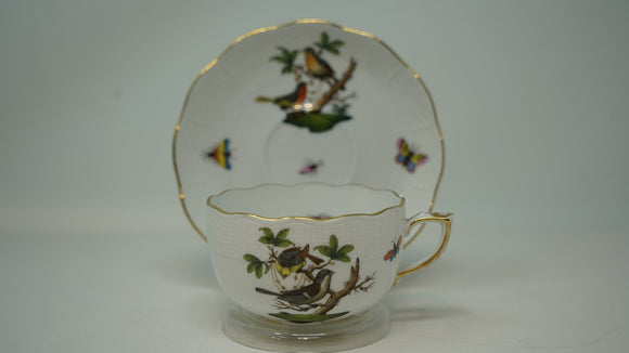 Herend Rothchilds Bird Cup & Saucer  724-0-00