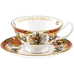 Royal Worcester Diamond Jubilee Cup & Saucer
