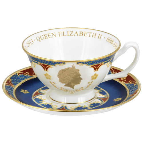 Royal Worcester 60th Ann. Coronation Cup & Saucer