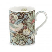 Royal Worcester Fine Bone China Mug Strawberry Thief Chocolate