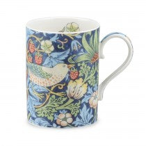 Royal Worcester Fine Bone China Mug Strawberry Thief Indigo
