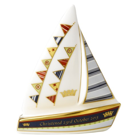 Royal Crown Derby Christening Sailing Boat