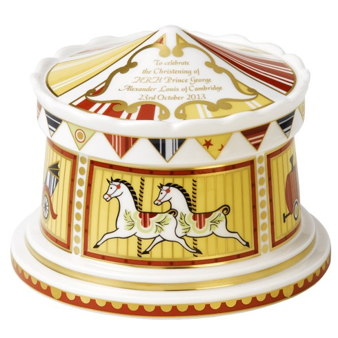 Royal Crown Derby Christening Carousel