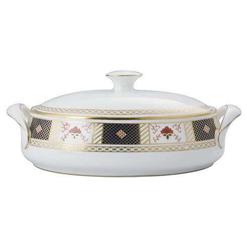 Derby Border Covered Vegetable Bowl