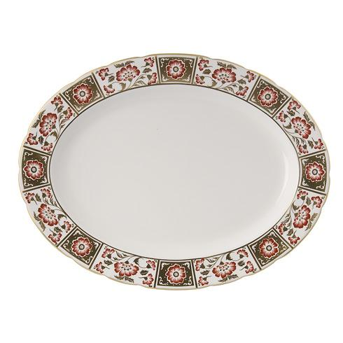 Derby Panel Red Large Platter