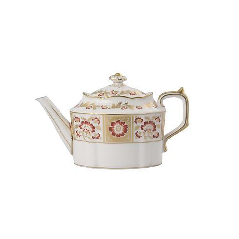 Derby Panel Red Teapot S/S