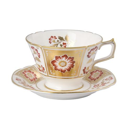 Derby Panel Red Tea Cup & Saucer