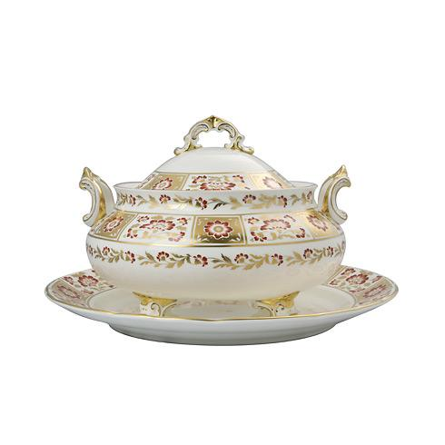 Derby Panel Red Soup Tureen & Stand