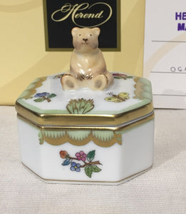 Herend Square Bear Box