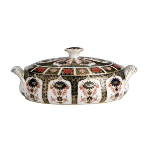 Old Imari Covered Vegetable Bowl
