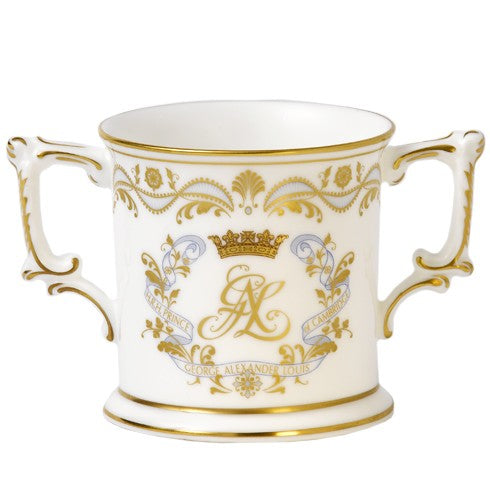 Royal Crown Derby Christening Loveing Cup